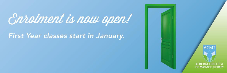 enrolment is now open